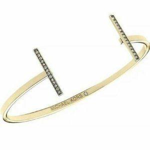 Michael Kors Gold Tone Open Cuff Bracelet